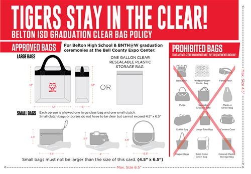 Belton ISD Graduation Clear Bag Policy