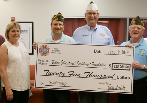 VFW 4008 Post Donates $25,000 for BEEF Senior Scholarships
