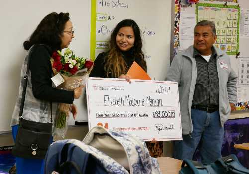 BHS Senior Surprised with Full Scholarship to UT-Austin