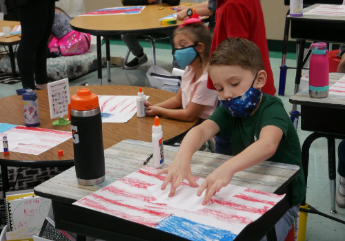 Sparta Elementary Students Remember 9/11, Celebrate First Responders