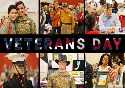 Students to Participate in Variety of Veteran's Day Experiences